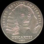 100 francs 1991 Descartes avers
