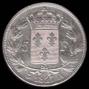 5 francs Charles X 2e Type revers