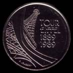 5 francs 1989 Tour Eiffel revers